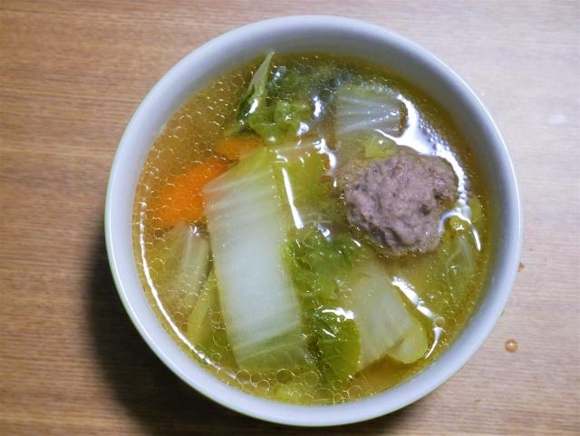 カニ玉にもう一品のスープ!